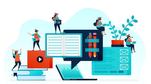 Электронное обучение облегчает процесс обучения.