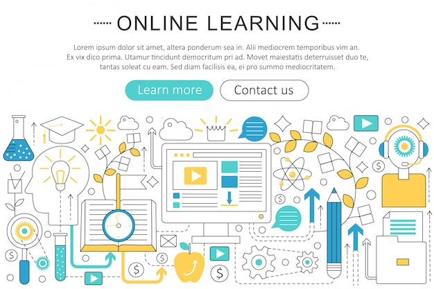 E-learning online education concept