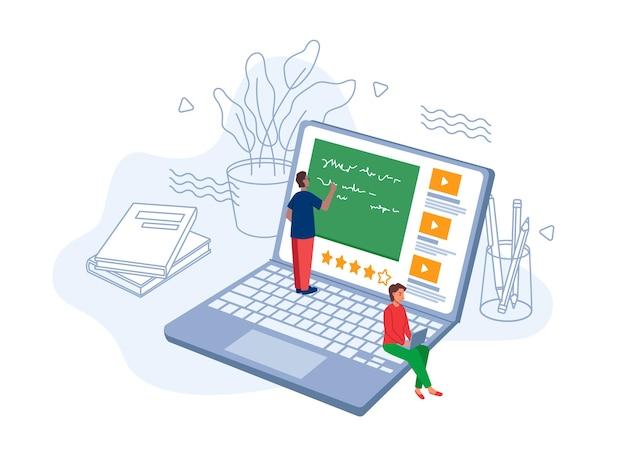 E- 러닝 온라인 학습, 원격 교육 시험