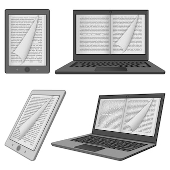 E-learning training icons set