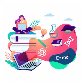 E learning vector illustration