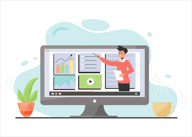 E-learning web illustration