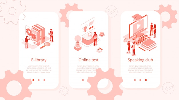 E-library online test speaking club isometric set