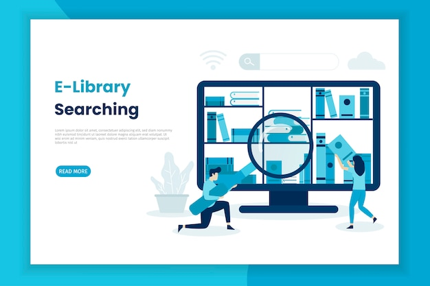 Целевая страница поиска концепции электронной библиотеки