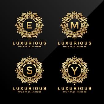 E, m, s, y 고급 문자 로고