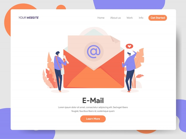 E-mail banner of landing page