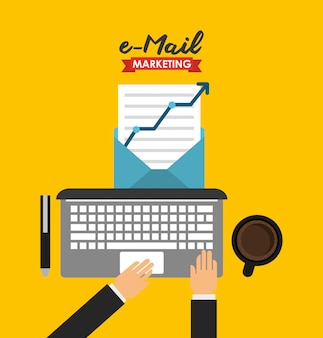 E-mail marketing illustration