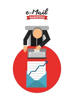 Illustrazione di marketing e-mail