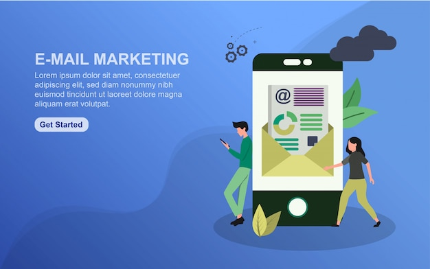 E-mail marketing landing page template