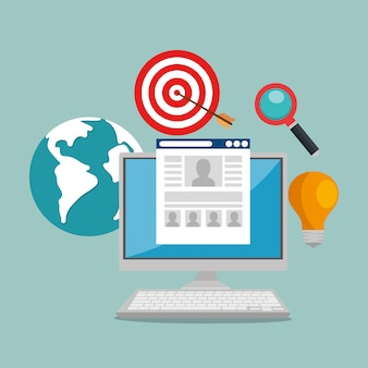 E-mail marketing set icons