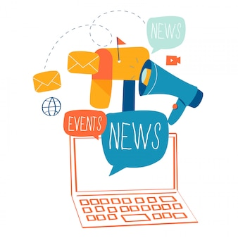 E-mail news, subscription and promotion