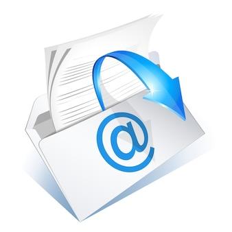 화살표가 있는 봉투에서 읽을 이메일