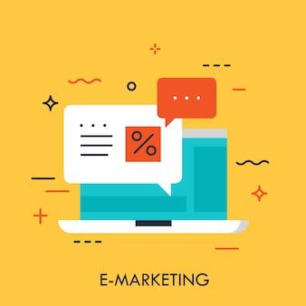 E-marketing concept