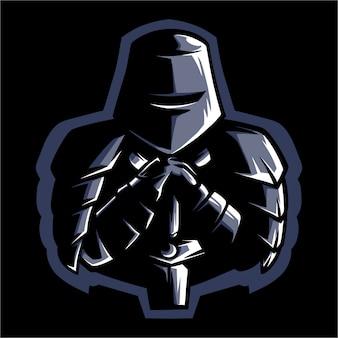 E port logo medieval knight