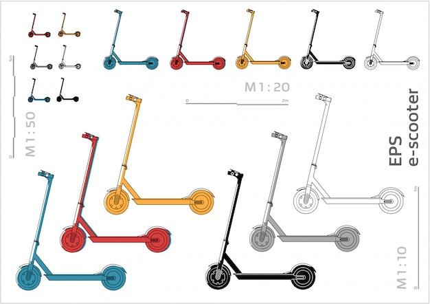 E-scooter set