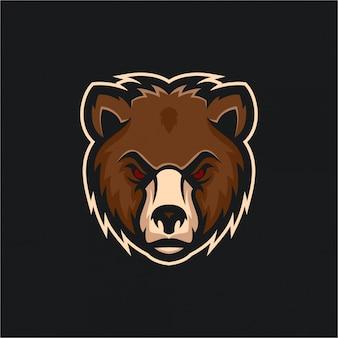 E-sport bear логотип идеи