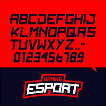 E-sport gaming font