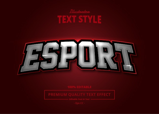 E sport illustrator text effect