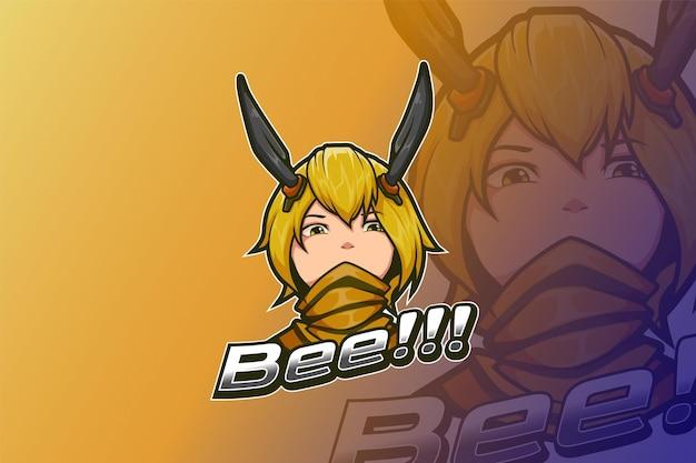 E sport logo design желтая пчела