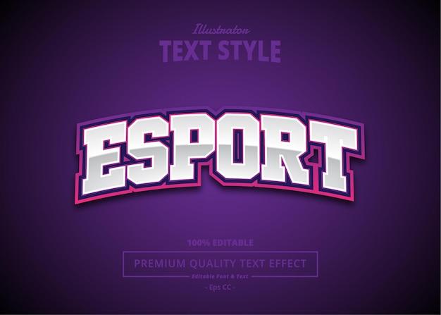 E sport text effect
