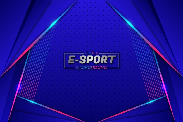 E-sports background blue style