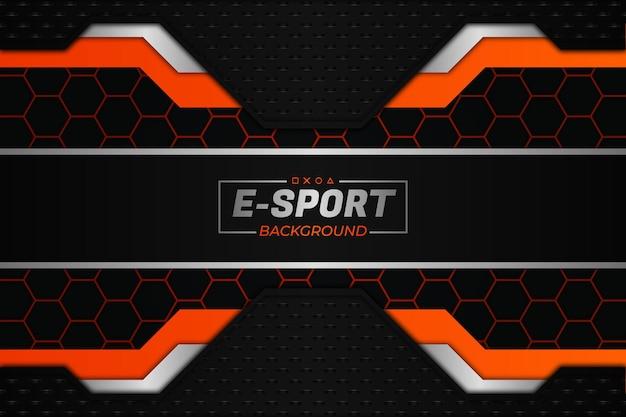 Eスポーツの背景ダークとオレンジスタイル