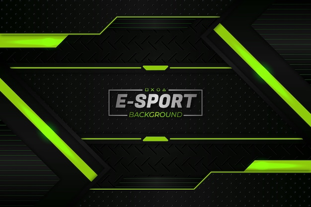 E sports background green style