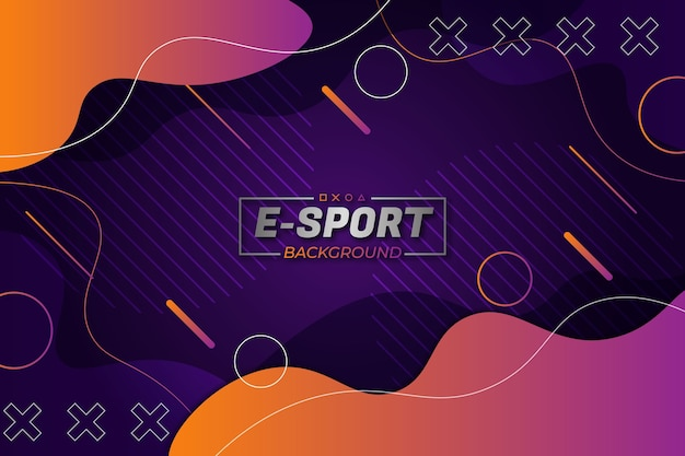 E-sports background purple orange fluid style