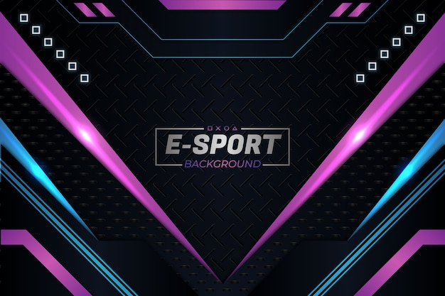 E sports background purple style