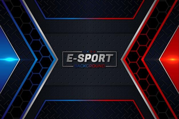 E- 스포츠 배경 빨간색과 파란색 스타일