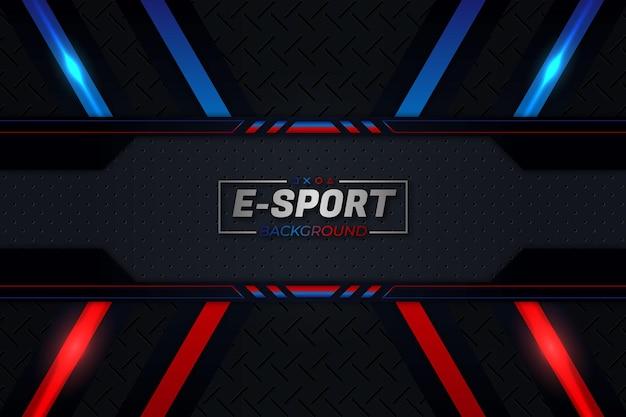 Eスポーツの背景赤と青のスタイル