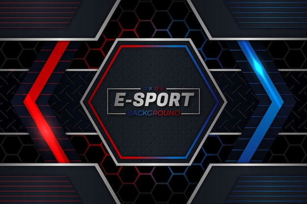 E sports background red and blue style