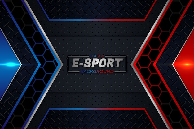 E-sports background red and blue style