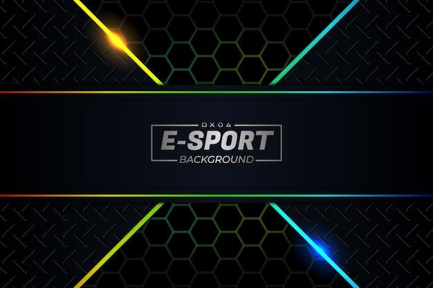 E sports background rgb style