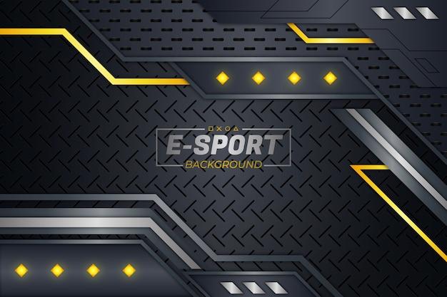 E sports background yellow style