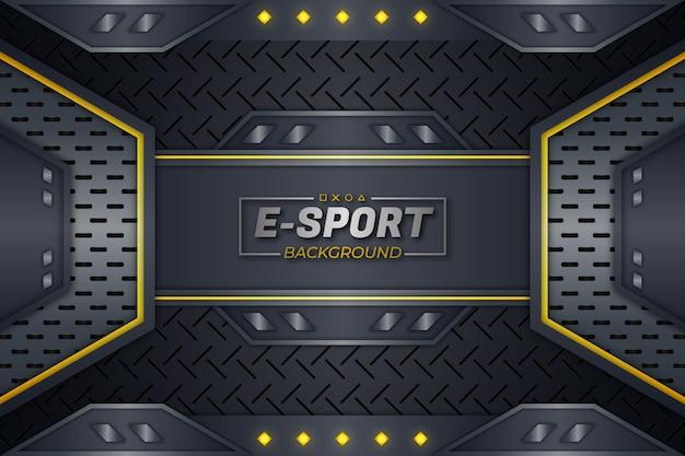 Eスポーツの背景黄色のスタイル