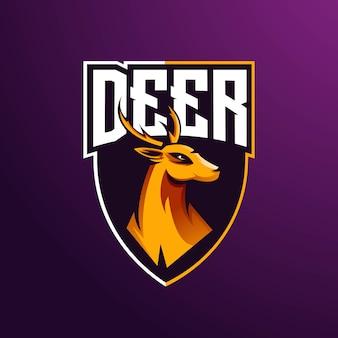 E-sports team logo template with deer