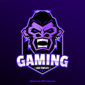 E-sports team logo template with gorilla