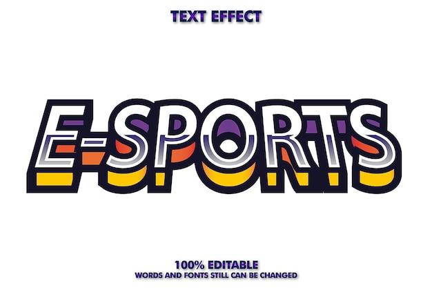 Эффект градиента текста для электронного спорта с подходящим логотипом для компании или бизнеса