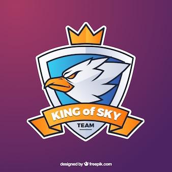 Шаблон логотипа команды e-sports с орлом