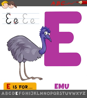 Письмо e лист с мультфильм эму птица