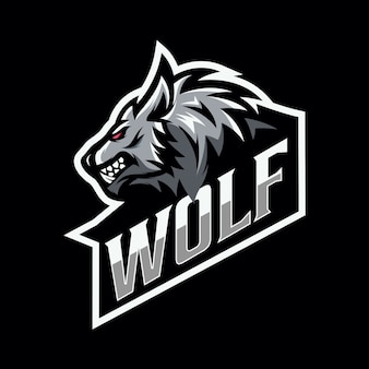 オオカミマスコットeスポーツのロゴ