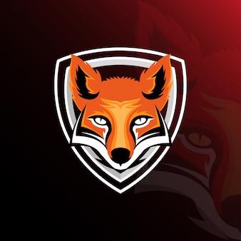 キツネeスポーツゲームのロゴのテンプレート