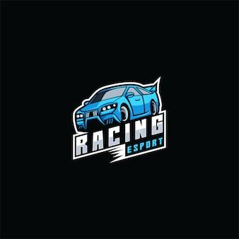 ロゴイラスト車eスポーツとスポーツスタイル。