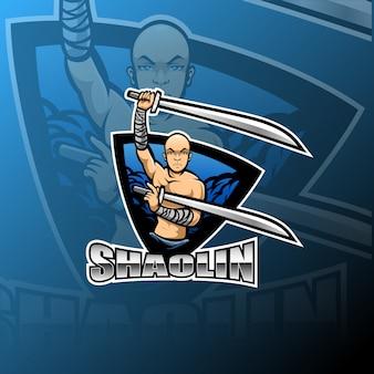 少林寺のeスポーツマスコットロゴ