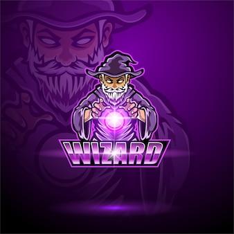ウィザードのeスポーツマスコットのロゴのテンプレート