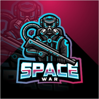 宇宙戦争eスポーツマスコットロゴ