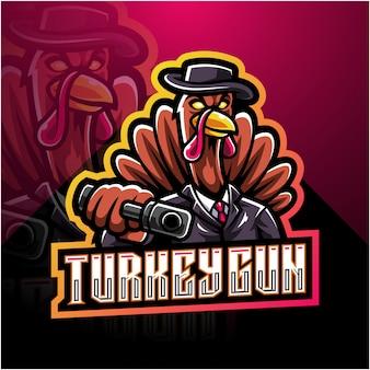 トルコの砲手eスポーツマスコットロゴ
