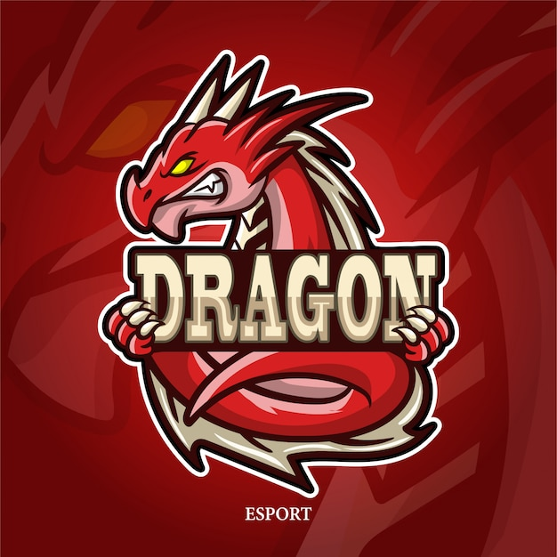 ドラゴンマスコットeスポーツのロゴ。