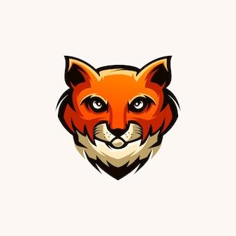 猫の頭のeスポーツのロゴデザイン